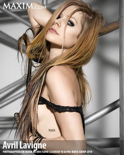 November 2010 Maxim Photoshoot! - Avril Lavigne 400x500