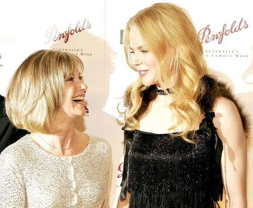 Olivia and Nicole Kidman at G'Day LA Penfolds Gala