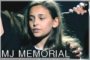 Paris Jackson's MJ Memorial 2009