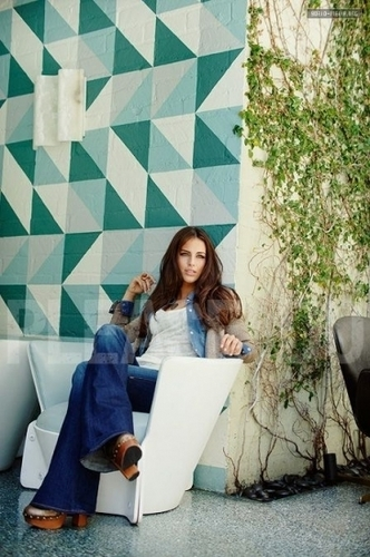 Jessica Lowndes wallpaper containing a living room and a barrow called Photoshoot - Zooey Magazine (October 2010)