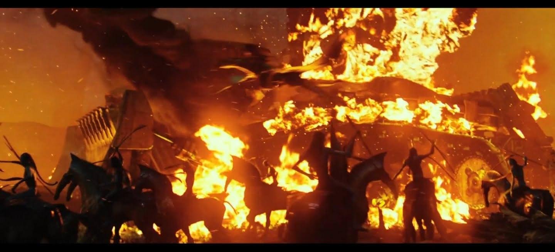 Avatar special edition screencaps burning bulldozer