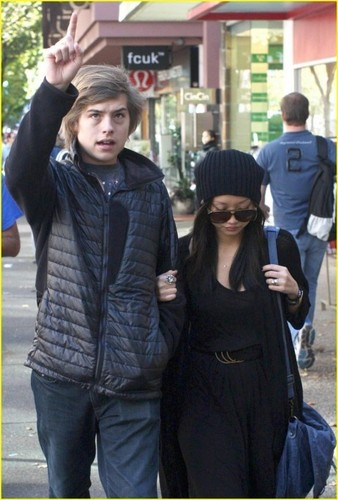 Sprouse Bros and Brenda Song Stroll In Vancouver!!