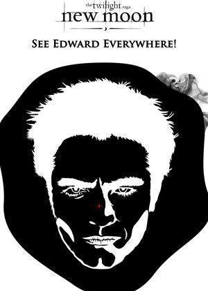 Stare at the dot for 1 minute, look at the wall and you will see Edward!