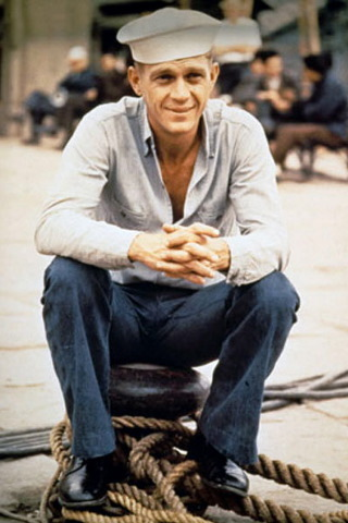Steve McQueen wallpaper containing a boater and a fedora called Steve McQueen