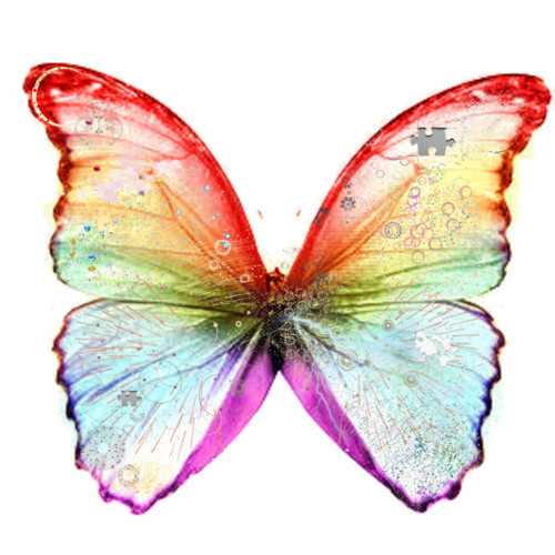 polyvore clippingg♥ wallpaper entitled Texture Rainbow Butterfly Filler