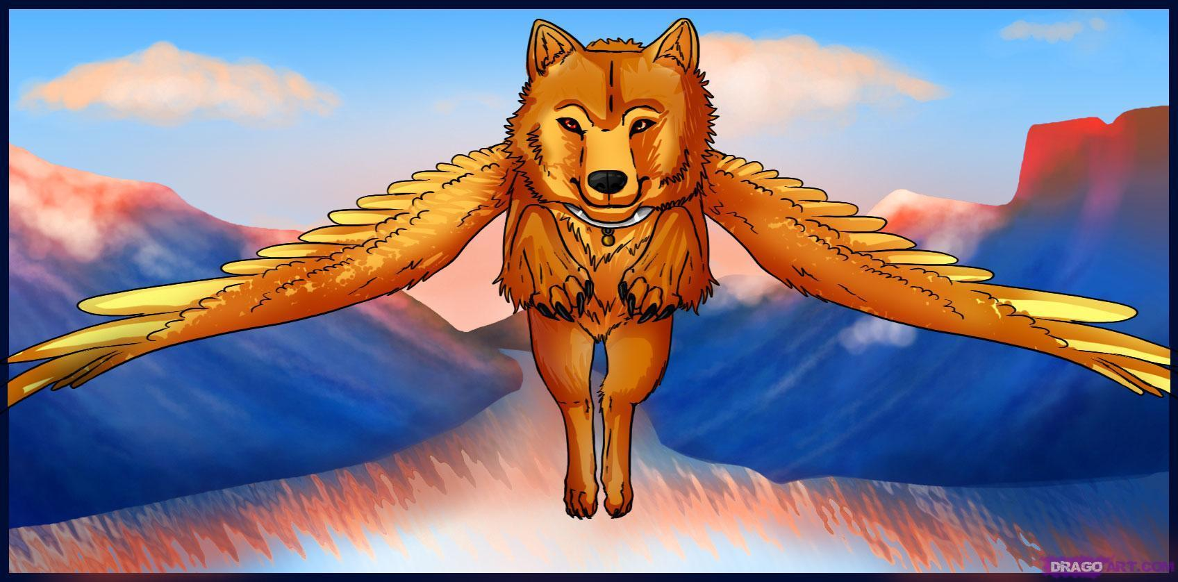 Winged Wolves Images Winged Wolves Hd Wallpaper And Background