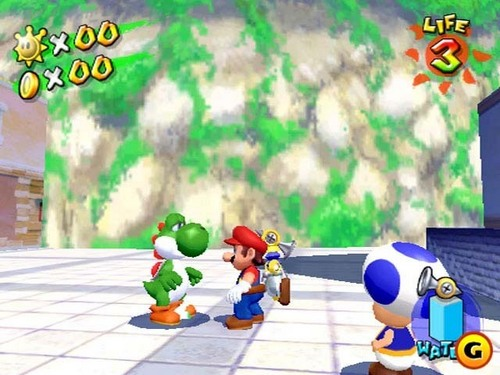 Super Mario Sunshine karatasi la kupamba ukuta titled Yoshi