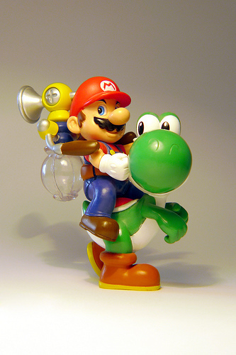 Super Mario Sunshine wolpeyper called Yoshi