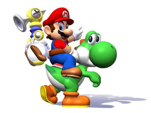 Super Mario Sunshine wallpaper called Yoshi