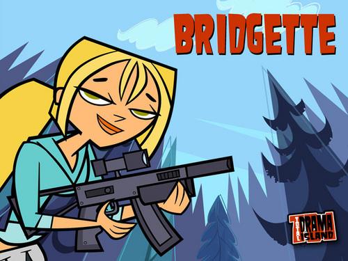 ahhh bridgette's got a gun