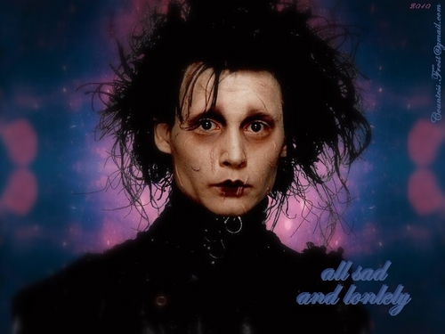 Edward Scissorhands wallpaper entitled all sad and lonely