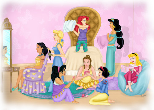 迪士尼 princess sleepover
