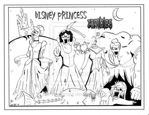 disney princess-zombies