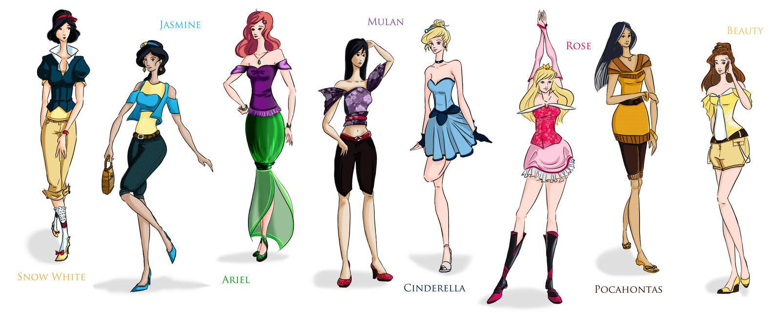high fashion disney princess