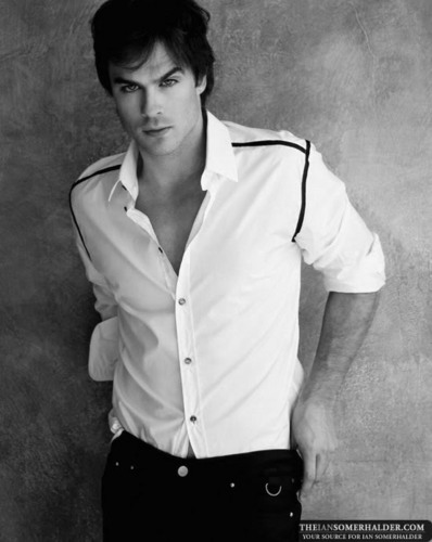 ian black & white - ian-somerhalder Photo