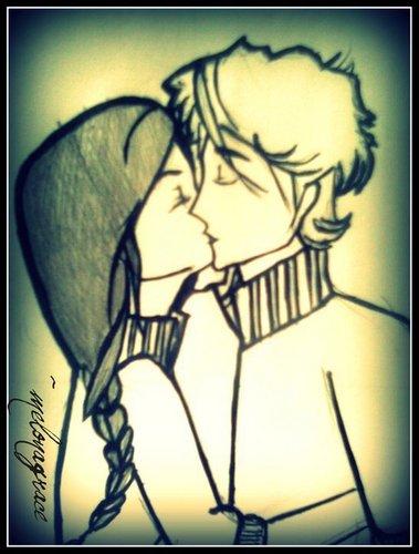 katniss and peeta پرستار art :)