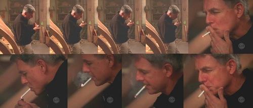 leroy jethro gibbs smoking (ncis 2x12)