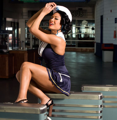 Melina Perez kertas dinding with a fedora and a boater entitled melina <3