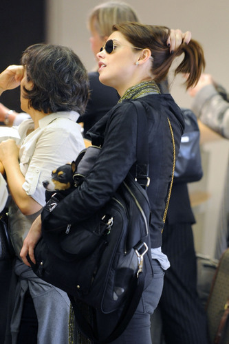 At LAX Airport (October 17, 2010)