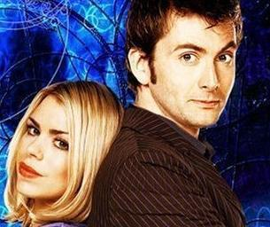 The Doctor and Rose 바탕화면 containing a portrait entitled 10th Doctor & Rose