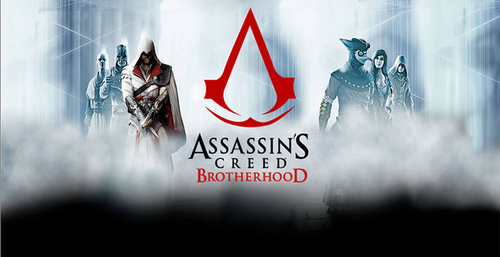 Assassin's Creed wallpaper probably with a sign entitled AC: Brotherhood