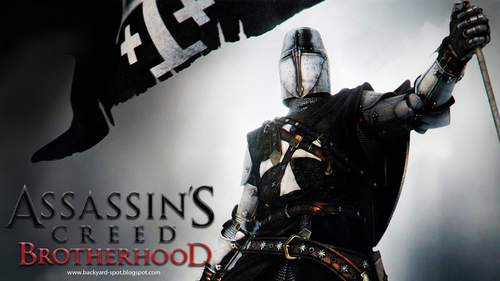 Assassin's Creed wallpaper probably containing a breastplate, a lippizan, and a surcoat entitled AC: Brotherhood