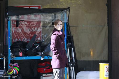 AJ at the set of 'Ashley'
