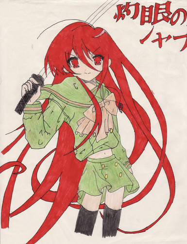 Shakugan no Shana Hintergrund with Anime called Artworx88-My drawing of Shana (colored with crayola markers!) X3
