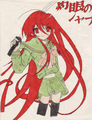 Artworx88-My drawing of Shana (colored with crayola markers!) X3 - shakugan-no-shana fan art