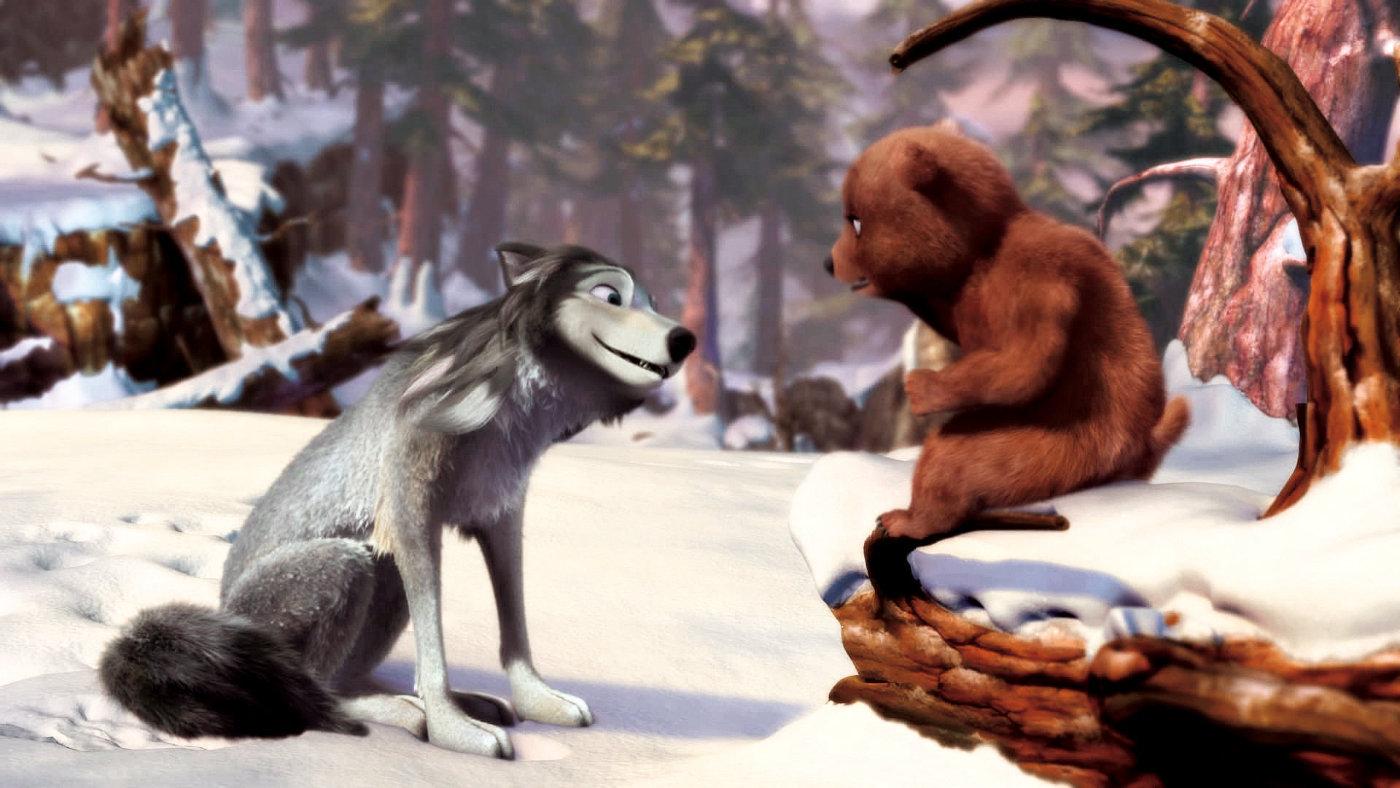 Bear cub meets Humphrey