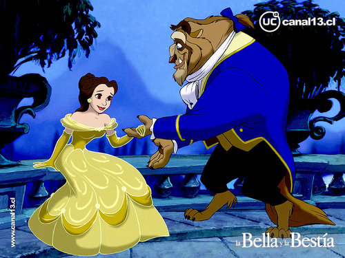 Beauty and the Beast wallpaper probably with anime titled Beauty and the Beast