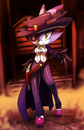 Blaze the Cat achtergrond entitled Blaze the cowgirl