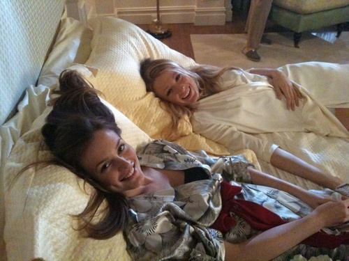 Bleighton on Set - serena-and-blair Photo