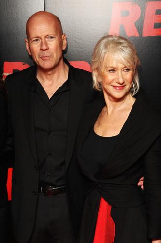 Bruce Willis & Helen Mirren @ the UK Premiere of 'Red'