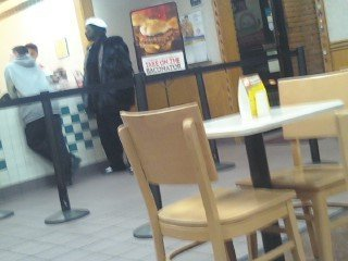 Snoop Dogg at Wendy's.
