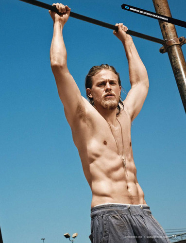 Charlie Hunnam on Men&#39;s Fitness - sons-of-anarchy Photo