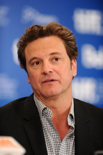 Colin Firth at The King's Speech Press Conference at Toronto International Film Festival