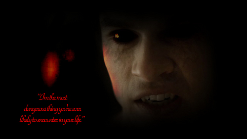 """Damon Salvatore wallpaper possibly with a sign entitled Damon - """"The most dangerous"""""""