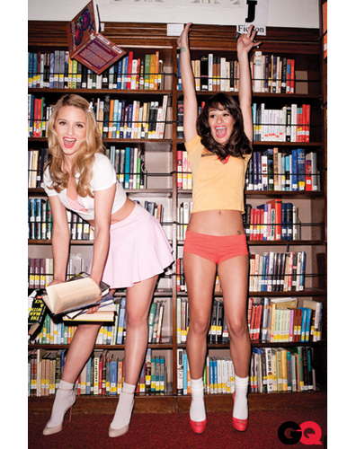 Dianna & Lea  - GQ Magazine - glee Photo