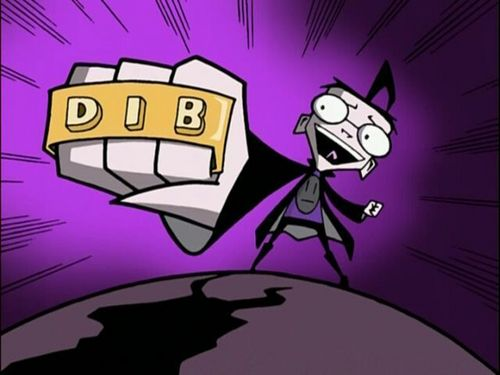 Invader Zim wallpaper with anime titled Dib