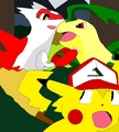 Fight over Ashachu - ash-ketchum fan art