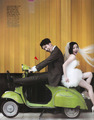 Ga in & Jo Kwon wedding picture