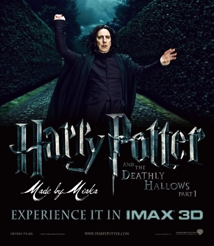 Harry Potter and the Deathly Hallows : Professor Severus Snape Fanmade Poster