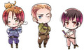 Hetalia Axis Powers - Incapacitalia chibi