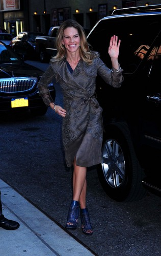 Hilary @ Late Show With David Letterman