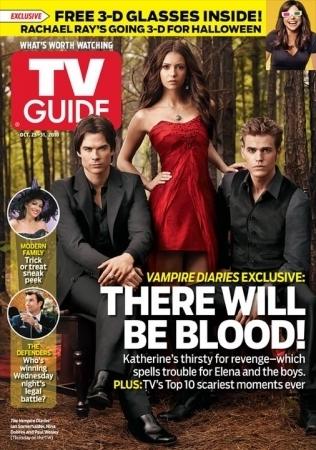 Ian somerhalder- vampire diaries cover Tv Guide