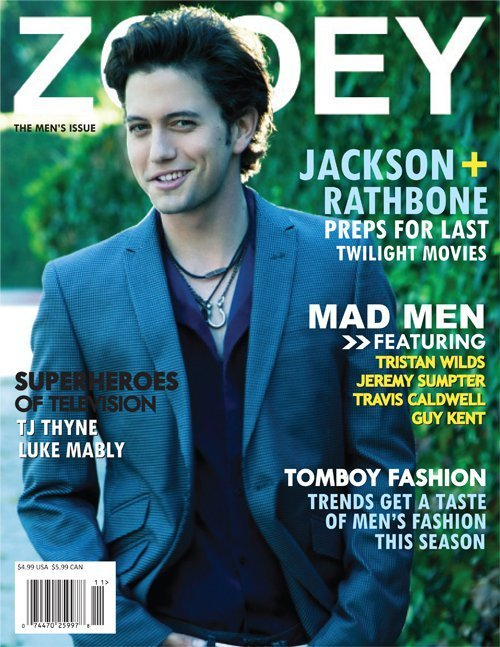 Jackson on the cover of 'Zooey' Magazine.