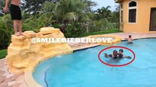 Justin and Sean Fighting in the Pool :D