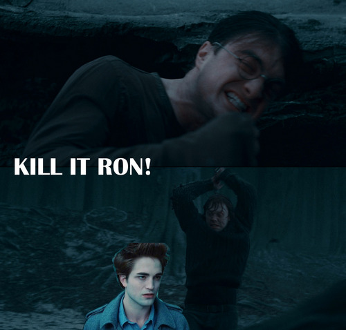 Kill it, Ron!