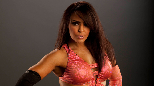 WWE LAYLA پیپر وال probably with a bustier, بسٹیر and a کاک, کاکٹیل dress titled LayLa